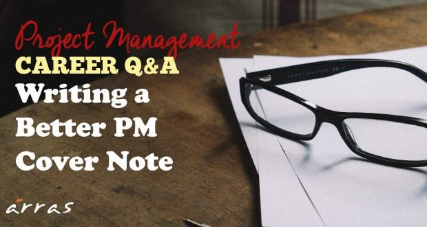 Project manager cover note